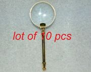 Antique Brass 2 Magnifying Glass Vintage Collectible Magnifier Best For Gift
