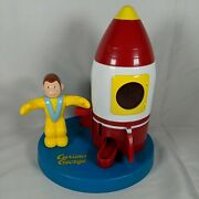 Curious George - Adventures Spaceship Gum Candy Coin Bank Vintage 1999