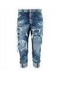 £840 Dsquared2 'work Wear Jean' Runway Distressed Patchwork Jeans -made In Italy