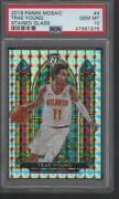 Trae Young 2019-20 Panini Mosaic Stained Glass 4 Psa 10 Gem Mint