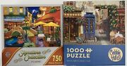 Jigsaw Puzzles Paris Themed Lot Of 2 1000 And 750 Pieces Cobble Hill Master P