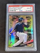 2015 Bowmanand039s Best Gold Refractor /50 Psa 10 Pop 2 Francisco Lindor Rc Rookie