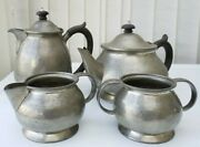 Archibald Knox Designed Pewter Four Piece Tea Set For Liberty And Co 01075 Lovely