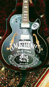 Incredible Limited Custom Made And039jack Danielsand039 Semi-hollow Arched Elect. Guitar