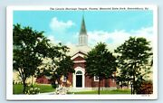 Harrodsburg Ky Postcard Lincoln Marriage Temple Pioneer Memorial State Park -wb