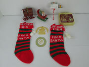 Lot Of Vintage 1980's Watkins Extract Christmas Ornaments Cookbook Stockings