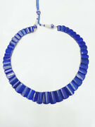 Natural Faceted Lapis Lazuli Antique Gemstone Wedding Necklace Jewelry