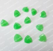 Parrot Jade Calibrated Natural Trillion Faceted Cut 11mm To 20mm Loose Gemstone