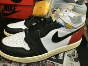 New Nike Air Jordan 1 Union Black Toe 8.5 Los Angeles La Blue High Bv1300 106 Hi