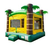 Tropical Premium Inflatable Bounce House Backyard Jumping Castle Without Blower