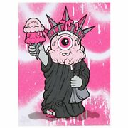 Sold Out Buff Monster Stay Melty Liberty Print Ed/100 Signed By Artist