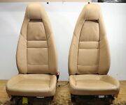 Both Front Right Left Side Electric Heated Seats Oem Porsche Panamera Beige Tan
