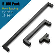 Knobwell New Black Stainless Steel Kitchen Cabinet Handles Cupboard Drawer Pulls