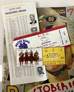 Notre Dame Vs Usc Ticket Program Football Luncheon - October 16 1999