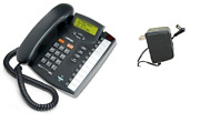 Aastra M9116 Single Line Analog Phone With Power Supply Charcoal