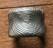 And Co. 1996 925 Sterling Silver Modernist Heavy Cuff Bracelet