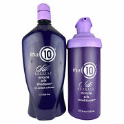 Itandrsquos A 10 Silk Express Miracle Silk Shampoo 33.8 And Silk Conditioner 17.5 Oz Duo