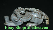 7.2 Rare Old Chinese Hetian Jade Carving Dynasty Palace Feng Shui Pixiu Statue