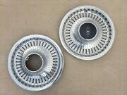Oem 1974-1979 Oldsmobile Cutlass Hubcap Wheelcover Center Cap Pair Free Shipping