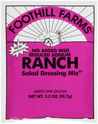 Foothill Farms Dressing Mix Ranch No Msg Gluten Free Low Sodium