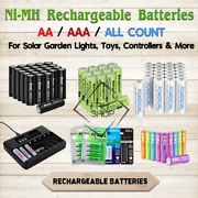 Rechargeable Batteries Nimh Aa Or Aaa Mah Lot Charger Solar Garden Lights / Toys