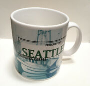 Starbucks Seattle City Mug 20 Oz 1999 Collectible Coffee Cup Kitchen Dishes Vtg