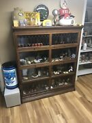 Antique Oak 1906 Gunn Lawyers Bookcase 59x51x12 Red Leaded Glass Nice Upstate Ny