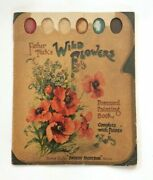Antique Vtg Father Tuck's Wild Flowers Postcard Painting Book Rare Raphael Tuck