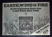 Earth Wind And Fire Last Days And Time 1979 Small Poster Type Advert Promo Ad