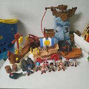 Lot Disney Jake And The Neverland Pirates Figures Ships And Playsets