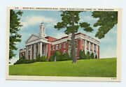 Wiley Hall, Emory And Henry College, Emory, Va Near Abingdon Linen Postcard