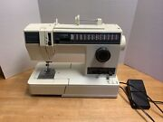 Singer Sewing Machine Model 4623 Vintage With Foot Pedal And Parts As Is