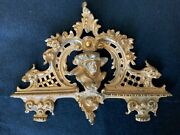 Antique French Gold Gilt Metal Medallions Ornament