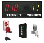 Brg Take-a-number Syst. W/tabletop Ticket Dispenser, 6-digit, 4andquot Display