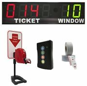 Brg Take-a-number Syst. W/tabletop Ticket Dispenser, 6-digit, 8andquot Display