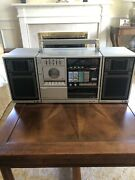 Sanyo C20 Boombox Turntable Cassette Radio Extremely Rare 80s