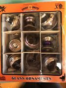Christopher Radko Shiny Brite Halloween Rounds And Spindles Ornaments 9ct Last 1