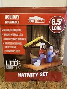 New Inflatable Nativity Holy Family Scene 6.5 Ft W Christmas Yard Decor Outdoor