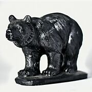 Natural Obsidian Handcarved Bear Decoration Crystal Healing Collection 2758g New