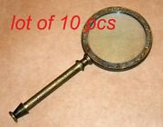 Vintage Brass 9.5 Antique Magnifying Glass Magnifier Dollond London Collectible
