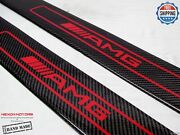 Mercedes W197 Sls Roadster Only Carbon Door Sills Inner Section Red Amg Logo