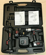 Craftsman 19.2v Set 1/2 Drill + 3/8 Right Angle + 2 Batteries + Charger + Case