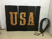 Man's Cave Decor Item Collectible Wild West Carved Letters. Texas, Exit Sign