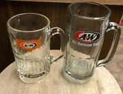 2 Aandw Mugs 1-7andrdquo 20 Ounce Root Beer Soda And 1-5 7/8andrdquo Great Shape Collectibles