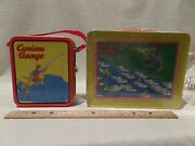 Vintage 1999 Curious George Authentic Metal Lunch Boxes-set Of 2