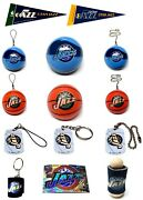 Utah Jazz Nba Mini Basketball Vending Gift Keychain-dangler-light Pull You Pick