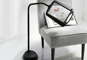 Floor Lamp 5x Magnifier With Led's Light, Illuminated, Full Page, Goose Neck