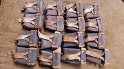 Soviet Army Mosin Nagant Brown Artificial Leather Kirsei Ammo Pouch Lot Of 8