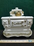 Vintage Mccoy White Stove Cookie Jar Made In The Usa