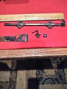 Rare Japanned Surface 9 Bolt Latch Slide Lock Latch French Double Door Cabinet
